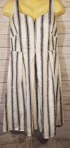 LK Bennett White Striped Dress